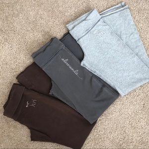 3x abercrombie kids sweatpants (equiv to adult XS)